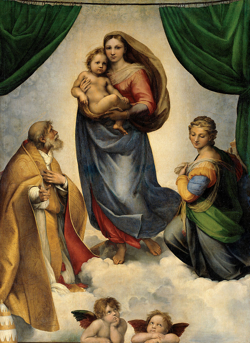 D:\Pictures\800px-RAFAEL_-_Madonna_Sixtina_(Gemäldegalerie_Alter_Meister,_Dresde,_1513-14._Óleo_sobre_lienzo,_265_x_196_cm).jpg