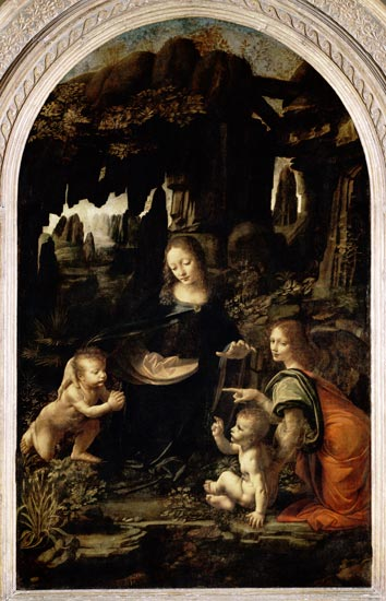 Image: Leonardo da Vinci - Madonna in the rock grotto (first setting)