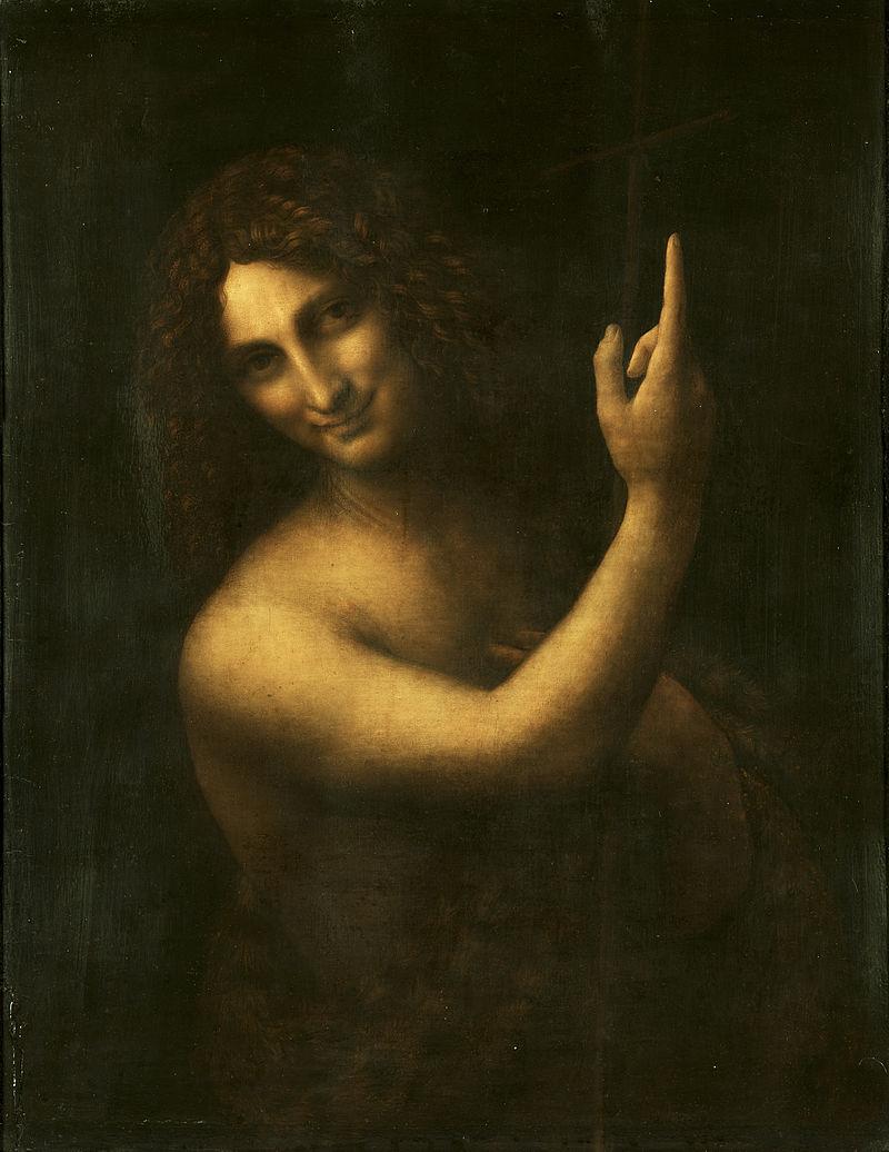 Leonardo da Vinci - Saint John the Baptist C2RMF retouched.jpg