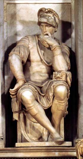 Lorenzo de Medici by Michelangelo